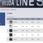 Imagen de una tabla de la web de Boluda