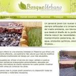Imagen de la home de la web de Bosque Urbano
