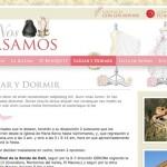 Imagen de la home de la web de Nos Casamos