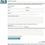 Imagen de un formulario de la web de Clinica Sagrada Familia