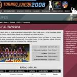 Imagen de la pagina de contenidos de la web del Torneo Junior Ciudad de Hospitaler