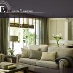 Imagen de la home de la web de Estudio F. Interiores