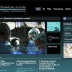 Imagen de la home de la web del Dr. Pablo Moreno Llorente