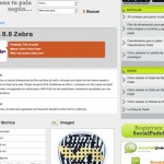 Imagen de la pagina de contenidos de la web de Social Padel