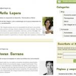 Imagen de la pagina de contenidos de la web de Ser Integral