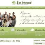 Imagen de la home de la web de Ser Integral