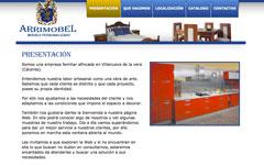 Imagen de la web de Arrimobel
