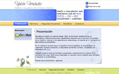 Imagen de la web de Yubén Fernández V1
