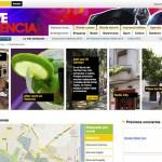 Imagen de la pagina de contenidos de la web de Love Valencia