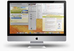 Diseño y desarrollo web en un iMac